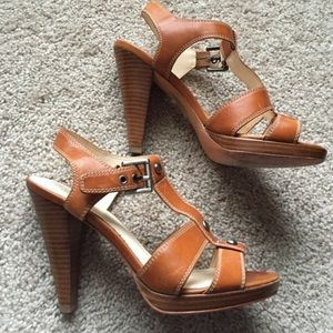 Coach leather heels